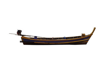 The fishing boat isolated, Clipping path