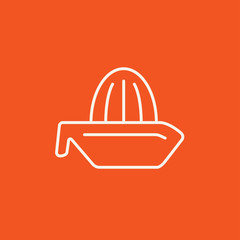Lemon squeezer line icon.