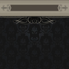 Vintage background with decorative border.