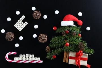 christmas tree shape background