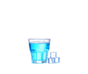 blue cocktail on white