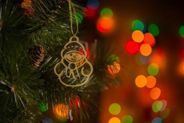 Christmas decoration on christmass tree