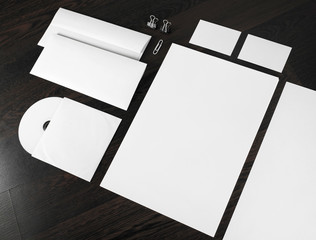Blank stationery and corporate id template. Mockup for design presentations and portfolios.