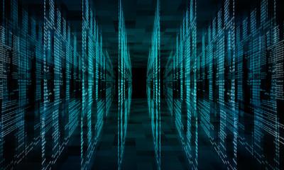Virtual abstract fantasy cyber reality room