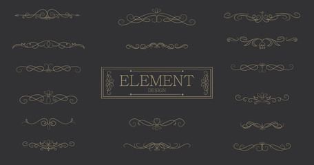 Classic element vintage vector design