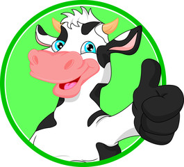 cow cartoon  mascot