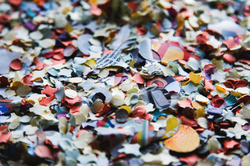 colorful confetti on the table