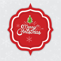 Merry Christmas message tag
