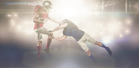 Composite image of american football players