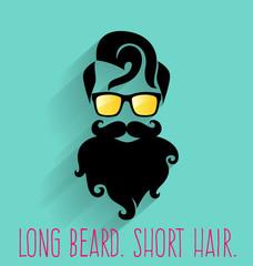 Hipster. Long Beard.