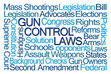 Gun Control Laws Word Cloud