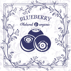 delicious blueberry design