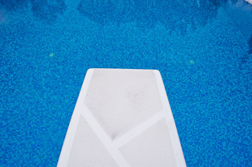 Springboard in the pool