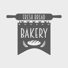 bakery logo, label or badge monochrome concept