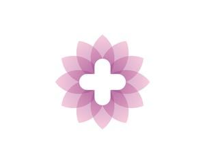 cross in the pink lotus flower