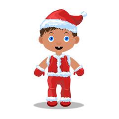 Ребенок в костюме Санта Клауса