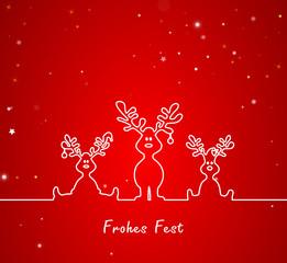 Weihnachten Hirsche