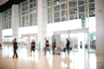 Blurred of Security Checkpoint
