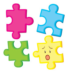 Jigsaw puzzle in four pieces