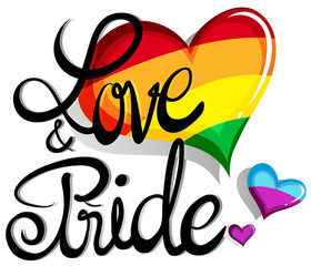 Love and pride theme with hearts