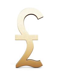3D illustration of pound sterling symbol