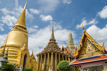Wat Phra Kaew, Temple of the Emerald Buddha  is famous temple in Bangkok, Thailand