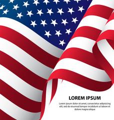 The USA Waving Flag Background