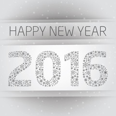 Happy 2016 new year with snowflake