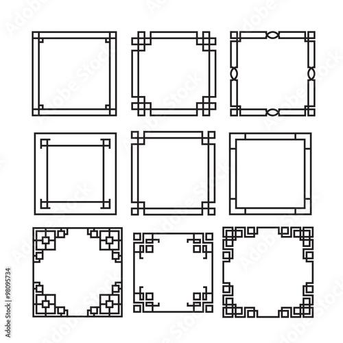 6ea48a0f3b4a Asian frame ornament