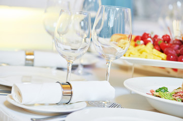 Fototapeta restaurant catering table with food