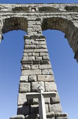 Detalle del Acueducto de Segovia, Castilla y León. España.