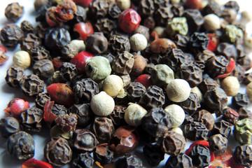 A mixture of pepper