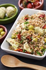 spelt salad, insalata di farro, italian cuisine