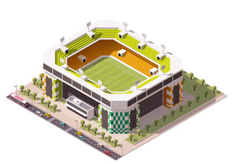 Vector isometric soccer arena