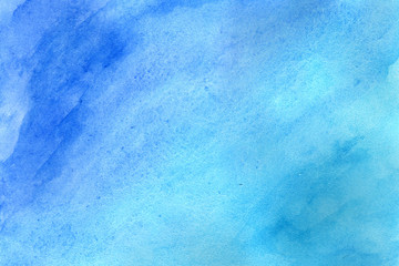 Blue grunge in watercolor