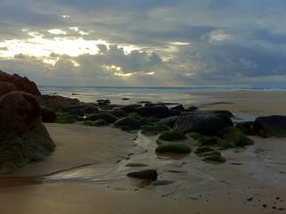 Crépuscule sur la côte sauvage
