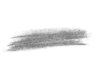 Black watercolor hand painted brush strokes isolated on white background, grunge paper texture, (with clipping path)