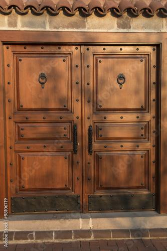Eski Ahşap Antika Kapı Dekoratif Arka Plan Fon Rustik Stock Photo