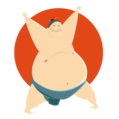 Fat Sumo fighter