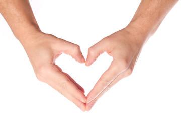 Herz Symbol , Handsymbol - Finger