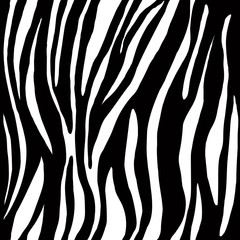 Seamless animal skin pattern with black white strips