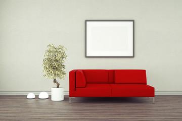 Interior Poster Frame Mock-Up.