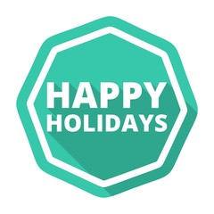 Happy Holidays icon with long shadow