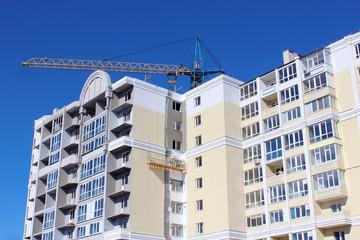 construction of multistorey modern house