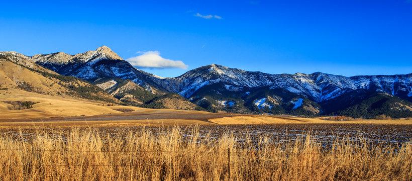 Bridger Mountain Range.