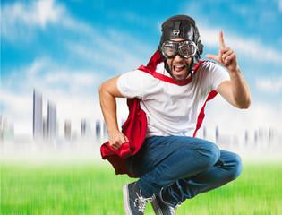 crazy super hero flying