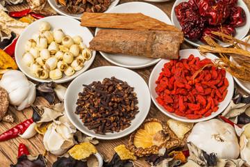 薬膳 漢方 健康食 Chinese medicine with medicinal herbs