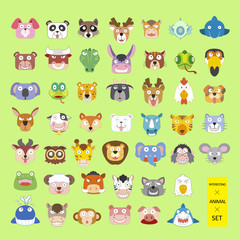 lovely animal heads collection