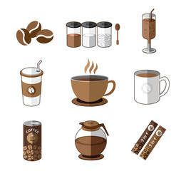 Illustration of the coffee