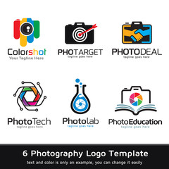 Photography Logo Template Design Vector